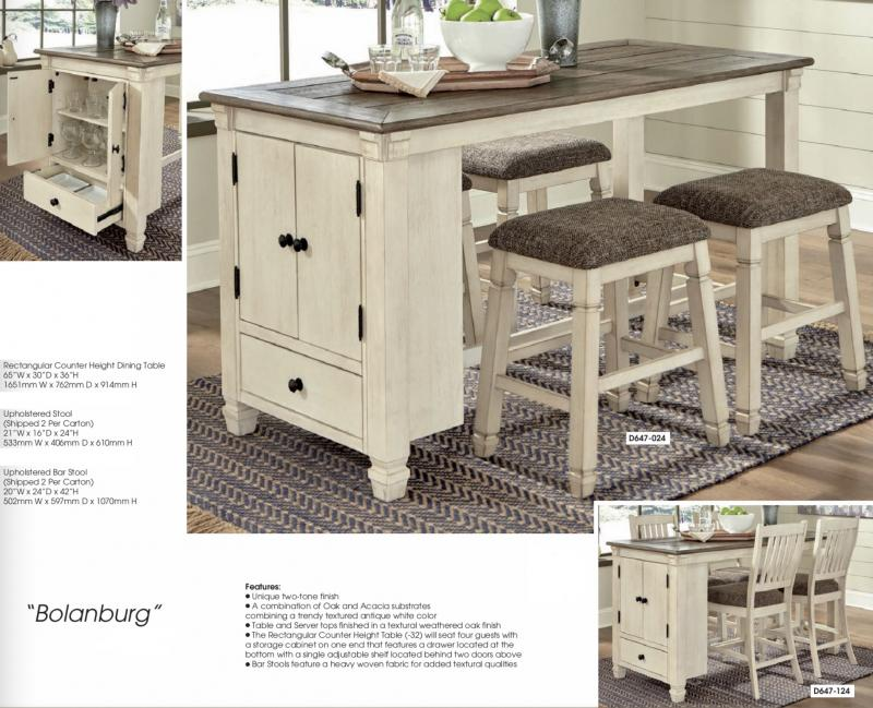 Counter Height Dining Furniture, Bar Height Table With Storage