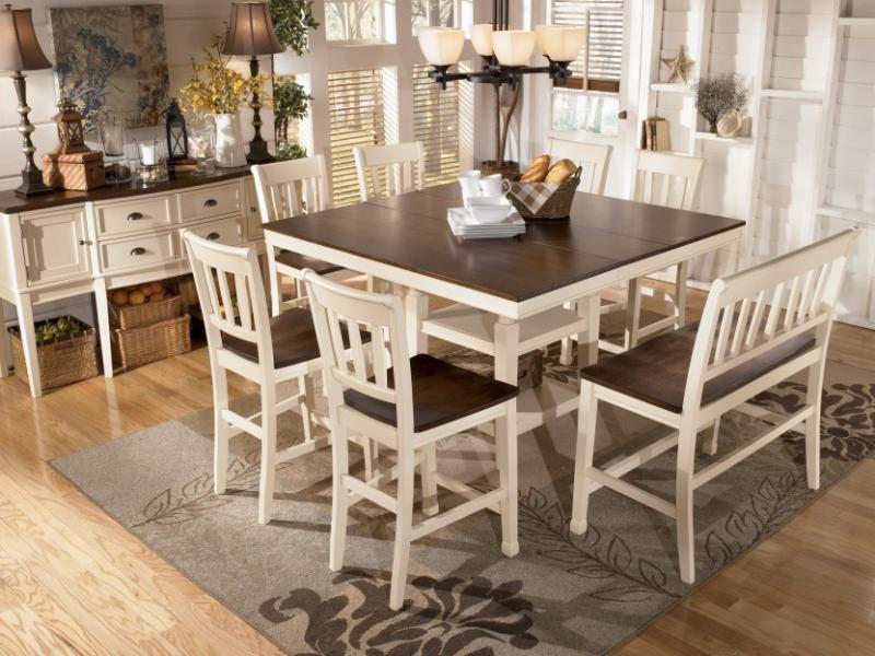 height of dining table bench chairs barron39s furniture and appliance counter height dining