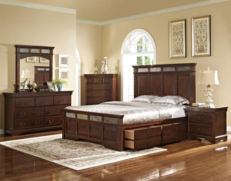 Custom Bedroom Sets With Drawers Under Bed Decoration