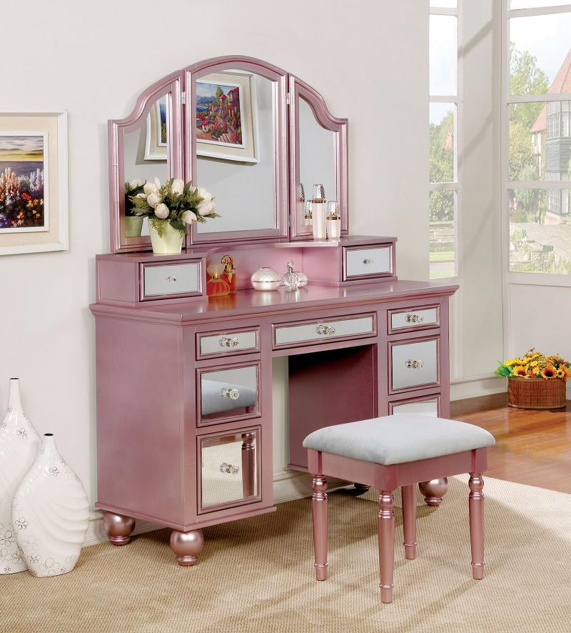 Tracy Vanity With Stool $419 Avail In Rose Gold Or White Foa
