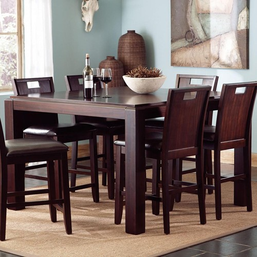 Barrons Furniture And Appliance Counter Height Dining Furniture - Counter height dining table with leaf